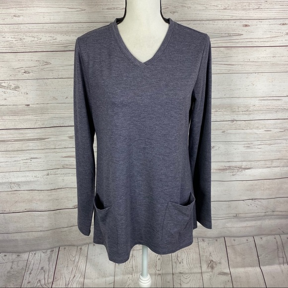 LOGO Lounge by Lori Goldstein French terry tunic